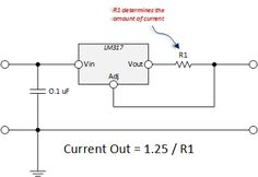tech - Circuits - LM317 LED Current Regulator Schematic Simple
