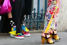 The look on the street in London this week is psychedelic yet subtle