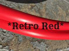 """Retro *RED* Polypro Dance Hoop 5/8"""" or 3/4"""" Collapsible"""