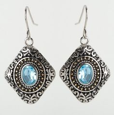 Bali Design Stone Earrings - Bohemian Silver Jewelry - Events