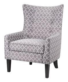 Quatrefoil Shelter Wing Chair