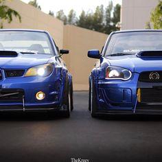 Blue brothers vía @subi06sti | ClubJapo. Portal de coches japoneses Jdm Subaru, Subaru Impreza Sti, Subaru Cars, Tuner Cars, Jdm Cars, Blue Brothers, Street Racing Cars, Auto Racing, Japanese Domestic Market