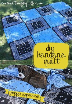 This DIY Bandana Quilt would make a great gift!