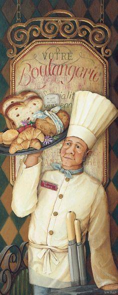 Chef Boulangerie   On the Wall - Quadros Personalizados