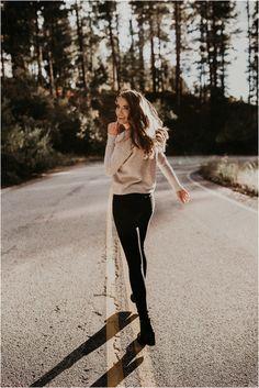 Boise Senior Photographer Makayla Madden Photography Bogus Basin Senior Girl Boise Mountains Adventure Running Travel