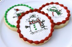 Stamped Christmas Cookies - by Auntie Bea's Bakery