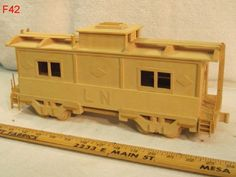 VINTAGE BALSA WOOD RAILROAD TRAIN CAR MODEL FOLK ART HAND MADE PIECE AWESOME !!!  REALLY NEAT ITEM!!!  ON AUCTION THIS WEEK!!!!