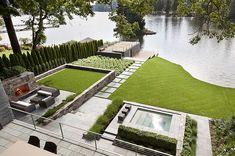Lakeside House in Lake Oswego, Oregon by Lango Hansen Landscape Architects