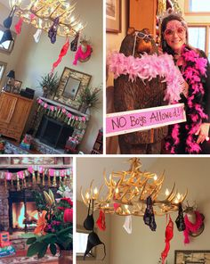 Sex and the city themed party bridal shower ch de for Cabin bachelor party