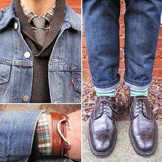 Men Fashion: #denim #blue #shoes @Jackie Godbold Missler Bodine