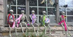 Grateful Dead skeletons all decked out for halloween - I really really want this in front of my house and all year long s'awesomeness!!