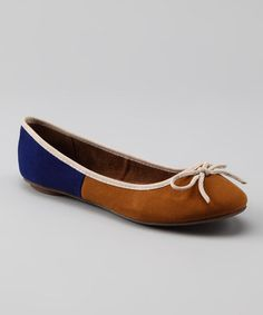 Take a look at this Camel & Navy Diggy Flat by GC Shoes on #zulily today!