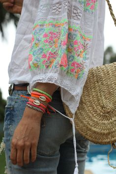 There's just something about this I like. Prob the bright pop of colors that gives it a boho - beachy vibe