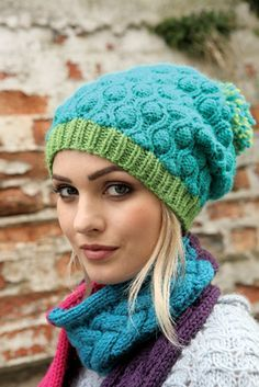 Lovely slouchy Cocoon hat FREE knitting pattern! www.craftsinstitute.com