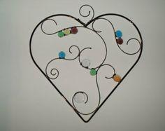 Oceans of Love Glass Heart Suncatcher Ornament by newmoonglass
