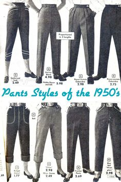 One of the most desired, and often most misunderstood, articles in the vintage wardrobe are the trousers. Today I'm going to delve a little bit into the basics of the transition of trousers f… #womenpantssuits