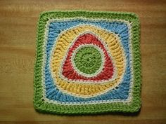 "Ravelry: Project Gallery for Child's Play 9"" Afghan Square pattern by Rebecca Bisbing"