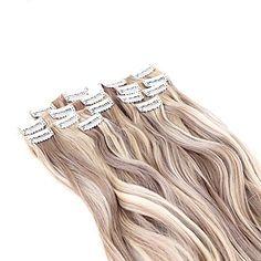 Clip In sintético Extensões de cabelo About 140g/set 22inch Alongamento de 5399183 2017 por R$40,53