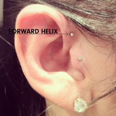 tragus & forward helix Already have tragus, my favourite piercing so far, had it for 2 years. Next up I think is forward helix on the other ear. Tragus Piercings, Cute Ear Piercings, Piercing Tattoo, Body Piercing, Tragus Stud, Tattoo Ink, Forward Helix Piercing, Ring Set, Bronze