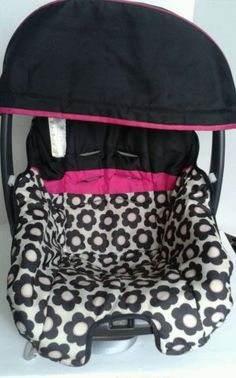 Evenflo-Nuture-Baby-Car-Seat-Cover-Cushion-Black- & Evenflo Infant Car Seat Replacement Cover Wire Canopy Support ...