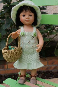 Pierrot mon ami + tuto chapeau et robe pour poupée Marietta 36 cms.