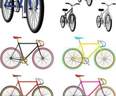 Bicycles illustrations vector