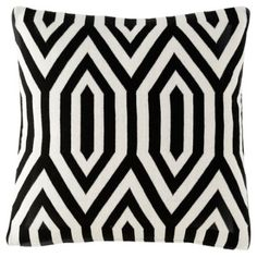 Check out this item at One Kings Lane! Thompson 20x20 Cotton Pillow, Black