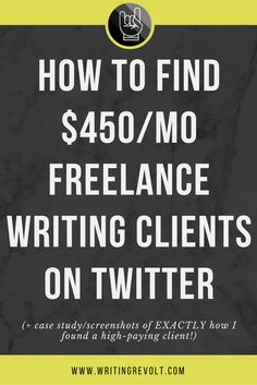 If you want to make money freelance writing, you need to use social media sites like Twitter. This post will show you how to find high-paying freelance writing clients and even includes a case study. Check it out! :) | freelance writing tips | freelance writing for beginners |