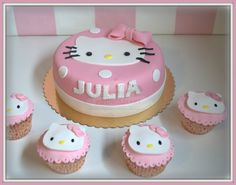 Virginias Cake: Tarta + Cupcake Hello Kitty Julia