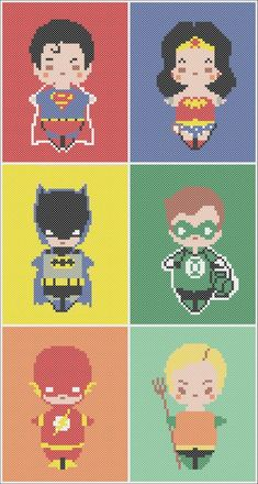BOGO Free! Cross stitch pattern  - BATMAN vs SUPERMAN   Wonder Woman pdf cross stitch pattern  -  pdf pattern instant download #127