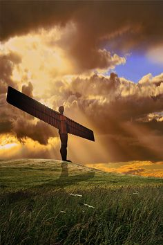 Angel of the North ♥ - this steel statue stand 20 meters high and has a wing span of 54 meters...it was commissioned in 1994 and installed in 1998...