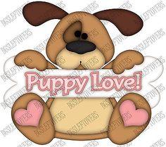 S- DOG WOOF PUPPY LOVE ~ Scrapbook Embellishment TB1464M