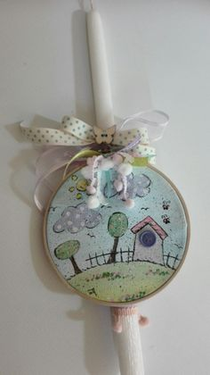 Easter Ideas, Happy Easter, Mobiles, Diy And Crafts, Mixed Media, Candles, Kit, Christmas Ornaments, Holiday Decor