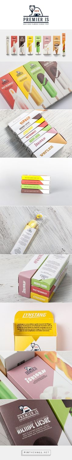 """Package design for ice cream company """"Premier Is"""" / School Project / Martin Klein"""