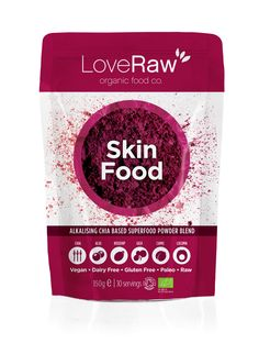 Skin Food - Superfood Powder Blend by LoveRaw | LoveRaw // would love to find this stuff in the US!
