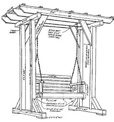 Pergola For Small Backyard Outdoor Pergola, Diy Pergola, Pergola Plans, Pergola Kits, Pergola Carport, Cheap Pergola, Porch Swing Frame, Arbor Swing, Diy Swing