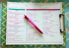 Meal Planning and Shopping Lists
