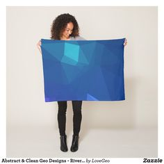 Abstract & Clean Geo Designs - River Flower Fleece Blanket #LoveGeo #geometric #abstract #Uniquegifts #trendy #shopping #giftidea #personalized #blankets #homedecor