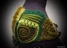 Chauffe-épaules freeform crochet, création TricoTam