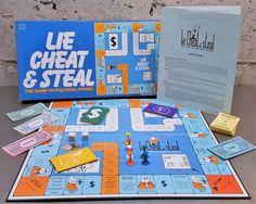 """Vintage Board Game """"Lie Cheat & Steal The Game of Political Power"""" by Reiss, Style # 190 Family Game Night Vintage Card/Dice/Strategy Game by MidModery on Etsy"""