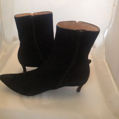 Black Suede Marc Boots Black suede Marc boots with a kitten heel. Excellent condition with extra traction added to sole. No trades  *This item is part of our June Charity Pop Up Sale with proceeds going towards animal rescue. New items will be added frequently (it's like a Posh N' Sip but in one closet!) so please like our post at the top of the closet for updates and SHARE!** Marc by Marc Jacobs Shoes Ankle Boots & Booties