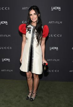 Actress Demi Moore, wearing Gucci, attends the 2016 LACMA Art + Film Gala honoring Robert Irwin and Kathryn Bigelow.