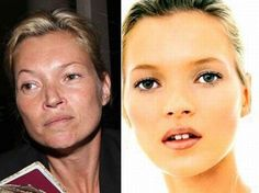 Supermodels without makeup!