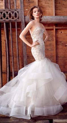 mermaid wedding dress by Lazaro