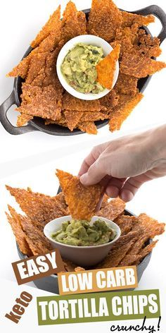 Low Carb Tortilla Chips - Low Carb Keto - Ideas of Low Carb Keto - Say what? Truly crispy low carb tortilla chips with less than carbs per serving. Keto snacking at its finest. And they really stand up to all the dips and salsas you love. Keto Foods, No Calorie Foods, Keto Snacks, Low Carb Recipes, Diet Recipes, Healthy Recipes, Crab Recipes, Turkey Recipes, Smoothie Recipes
