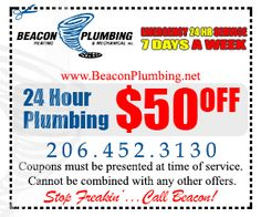 Seattle Plumbing by Beacon Plumbing http://www.beaconplumbing.net 206-452-3130 .  Call for Emergency Plumbing Today!  Residential and Commercial Plumbers in Seattle