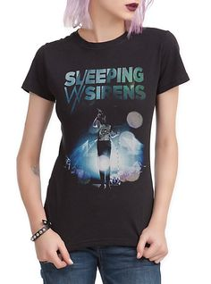 Sleeping With Sirens Kellin Screaming Girls T-Shirt | Hot Topic