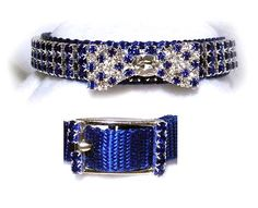 Formal blue polka dot imported crystal bowtie, Glitter 4 Your Critter