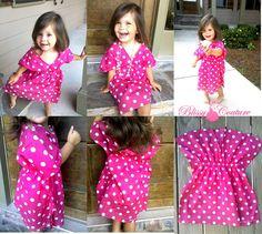 Polka Dot Bandanna Kimono Dress by www.BlissyCouture.com