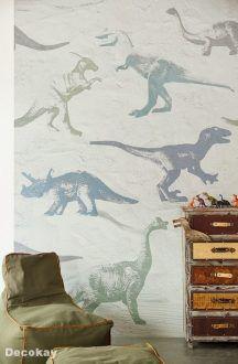Eijffinger Wallpower Junior 364154 Dino fossils grey 1
